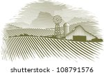 woodcut illustration of a barn... | Shutterstock .eps vector #108791576