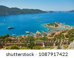 sea  near ruins of the ancient... | Shutterstock . vector #1087917422