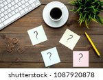 question mark on sticky notes... | Shutterstock . vector #1087920878