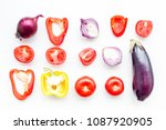 layout of contrast  colored... | Shutterstock . vector #1087920905