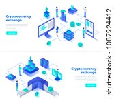 cryptocurrency exchange and... | Shutterstock .eps vector #1087924412