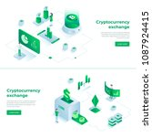 cryptocurrency exchange and... | Shutterstock .eps vector #1087924415