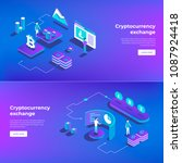 cryptocurrency exchange and... | Shutterstock .eps vector #1087924418
