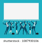 business people holding up the... | Shutterstock .eps vector #1087930106