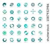 design elements set. abstract...   Shutterstock .eps vector #1087932986