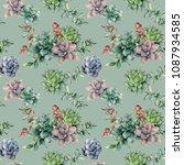 watercolor seamless pattern... | Shutterstock . vector #1087934585