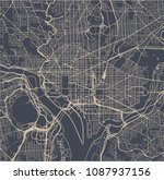 vector map of the city of...   Shutterstock .eps vector #1087937156