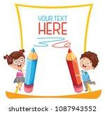 vector illustration of school...   Shutterstock .eps vector #1087943552