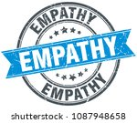 empathy round grunge ribbon...   Shutterstock .eps vector #1087948658