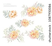set of the floral arrangements. ... | Shutterstock .eps vector #1087950086