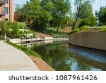 north river walk area near the... | Shutterstock . vector #1087961426