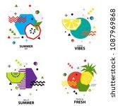 trendy style geometric pattern...   Shutterstock .eps vector #1087969868
