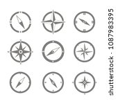 set of monochrome icons with... | Shutterstock .eps vector #1087983395