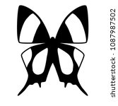 black and white vector butterfly | Shutterstock .eps vector #1087987502