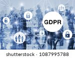 gdpr concept  general data... | Shutterstock . vector #1087995788