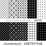 collection of black dotted... | Shutterstock .eps vector #1087997438