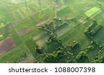 aerial shot from the drone  ... | Shutterstock . vector #1088007398