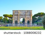 arch of constantine in rome ...   Shutterstock . vector #1088008232