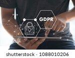 gdpr. data protection... | Shutterstock . vector #1088010206