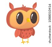 funny cartoon owl. wild forest... | Shutterstock .eps vector #1088010416