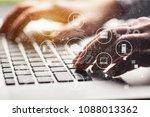 data management platform concept | Shutterstock . vector #1088013362