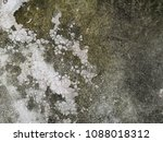 old dirty wall with green moss... | Shutterstock . vector #1088018312