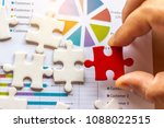 the man playing the jigsaw... | Shutterstock . vector #1088022515