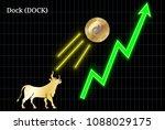 gold bull  throwing up dock ... | Shutterstock .eps vector #1088029175