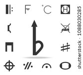 music note icon. detailed set...