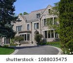 large stone house with circular ... | Shutterstock . vector #1088035475