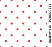 polka dot red white background... | Shutterstock .eps vector #1088037116