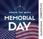 happy memorial day design card... | Shutterstock .eps vector #1088059142