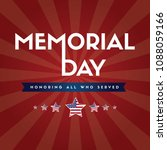 memorial day remember and honor | Shutterstock .eps vector #1088059166