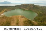 aerial view lake crater at taal ...   Shutterstock . vector #1088077622