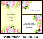 invitation with floral... | Shutterstock .eps vector #1088083808