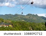 tourists on the zip line at... | Shutterstock . vector #1088092712