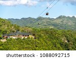 tourists on the zip line at...   Shutterstock . vector #1088092715