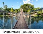 hanging bridge at loboc river   ...   Shutterstock . vector #1088092778