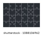 jigsaw puzzle set of 24 pieces  ... | Shutterstock .eps vector #1088106962