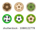vector set of drink coasters... | Shutterstock .eps vector #1088122778