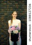 girl beauty  fashion  look....   Shutterstock . vector #1088127236