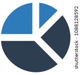 pie chart  two colors glyph... | Shutterstock .eps vector #1088128592