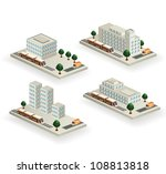 the set of vector buildings... | Shutterstock .eps vector #108813818