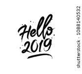 hello 2019. happy new year... | Shutterstock .eps vector #1088140532