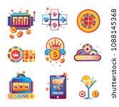 casino poker gambling game... | Shutterstock .eps vector #1088145368