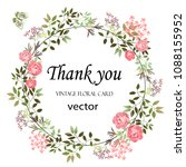 vector. wreath of leaves and... | Shutterstock .eps vector #1088155952