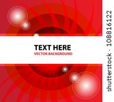 red abstract vector background | Shutterstock .eps vector #108816122