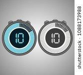 electronic digital stopwatch.... | Shutterstock .eps vector #1088173988