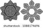 sun tattoo design | Shutterstock .eps vector #1088174696