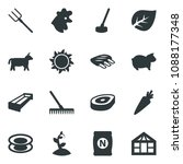 black vector icon set leaf... | Shutterstock .eps vector #1088177348